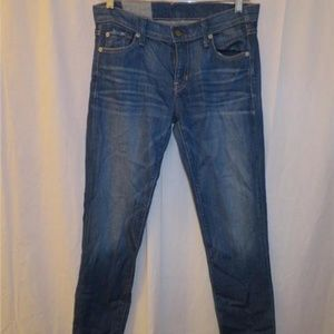 WOMENS TEXTILE BLUE SKINNY JEANS 27